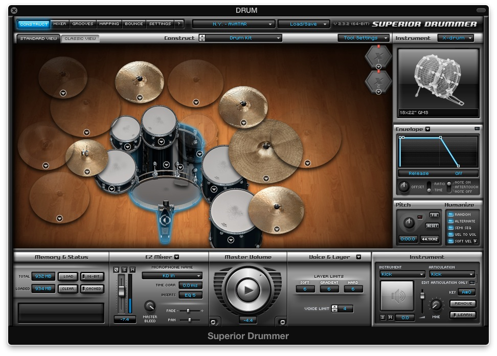 G1 Superior Drummer Song Writers Preset